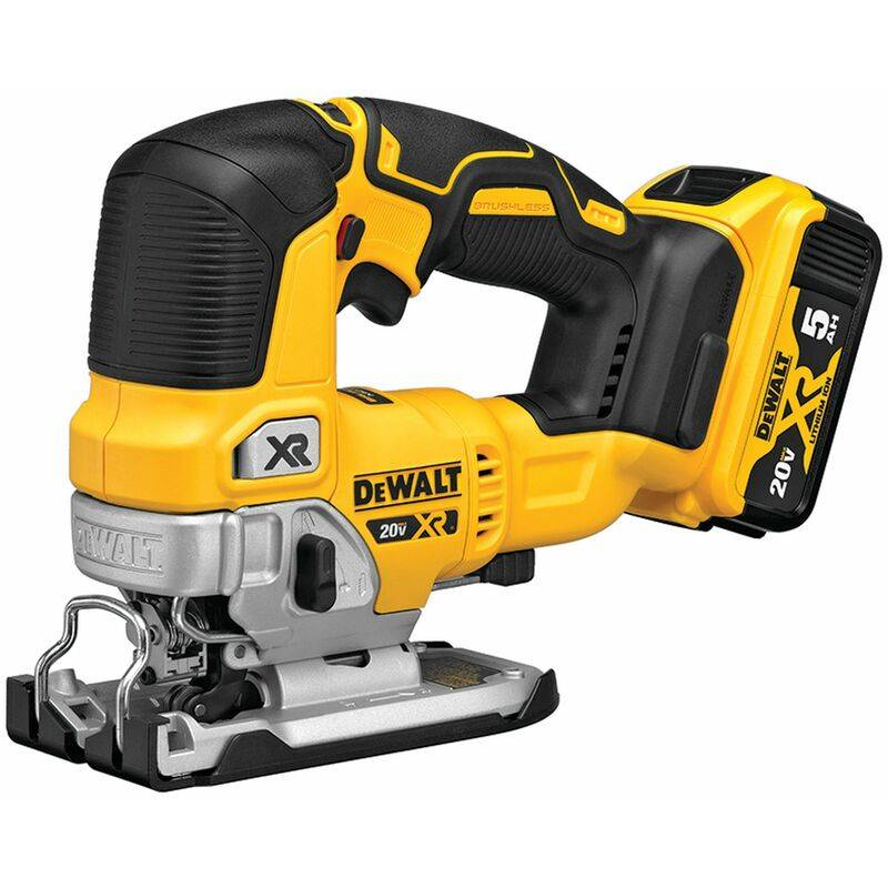 DEWALT Scie Sauteuse - Brushless - 18 V 5 Ah - 26 mm - 2 Batteries - XR DCS334P2-QW