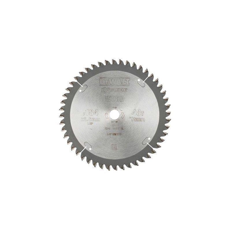 Dewalt - Lame de scie circulaire   Ø184 (lame) x Ø16 (trou) x 48D