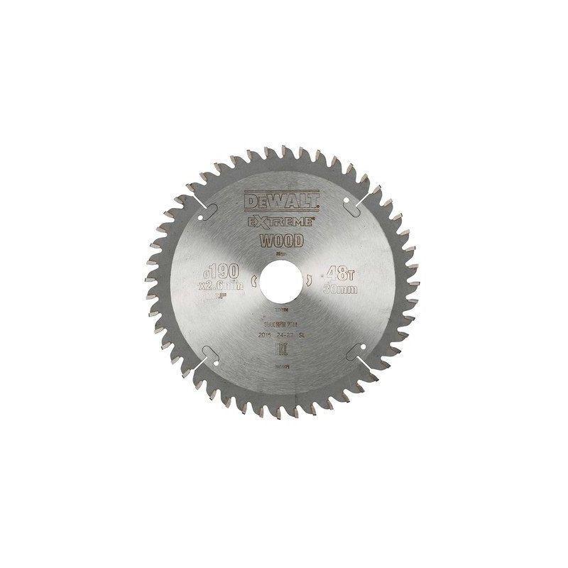 Dewalt - Lame de scie circulaire   Ø190 (lame) x Ø30 (trou) x 48D