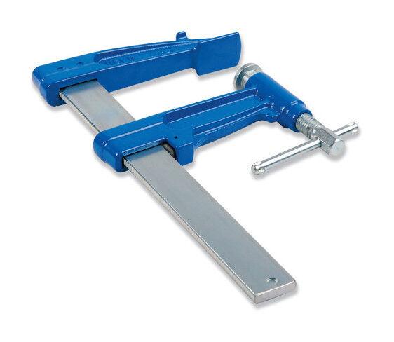 URKO Serre-joint à pompe 100 cm section 40 x 10 mm saillie de 220 mm et frein