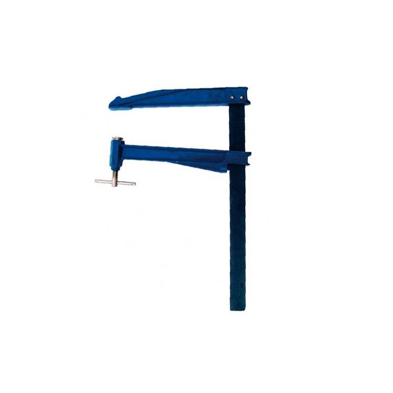 LEMAN Serre-joint à pompe saillie large 300 mm section 40 x 10 mm L. 300 mm