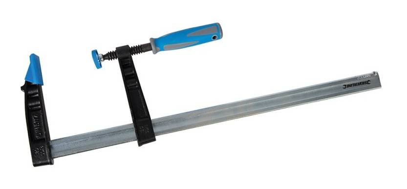 Silverline - Serre-joint en F résistant (grande capacité) - 500 x 120 mm