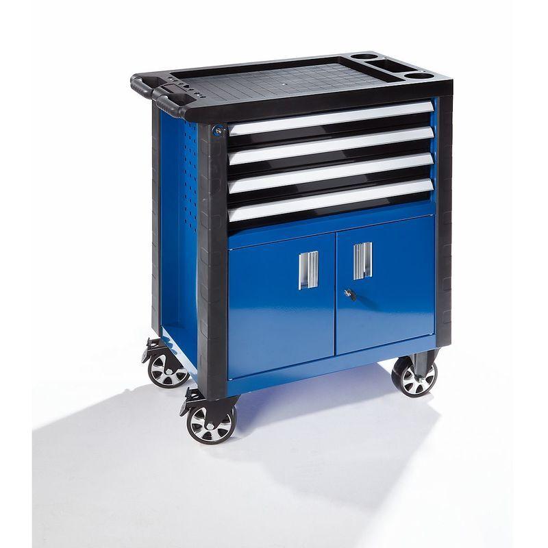 Certeo - Servante d'atelier - avec 4 tiroirs et porte à deux battants - h x l x