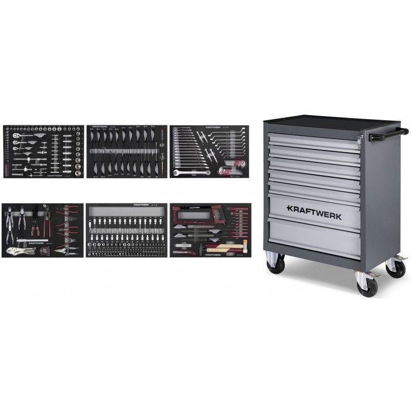 Kraftwerk - Servante d'atelier B107 avec Assortiment d'outils COMPLETO EVA 304