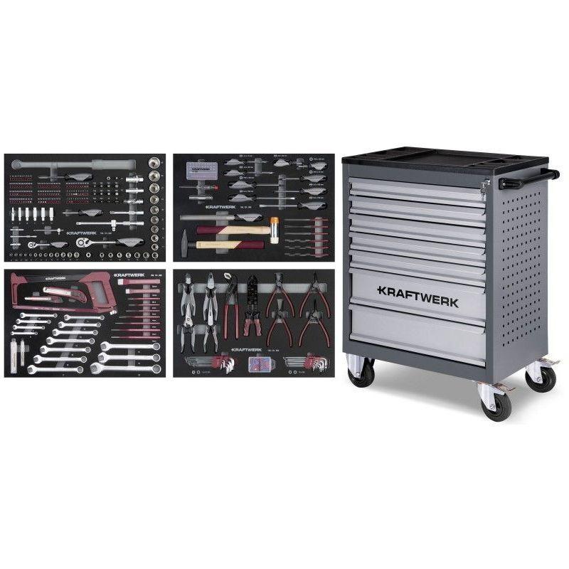 KRAFTWERK Servante d'atelier B107 avec Assortiment d'outils COMPLETO EVA 339 pcs