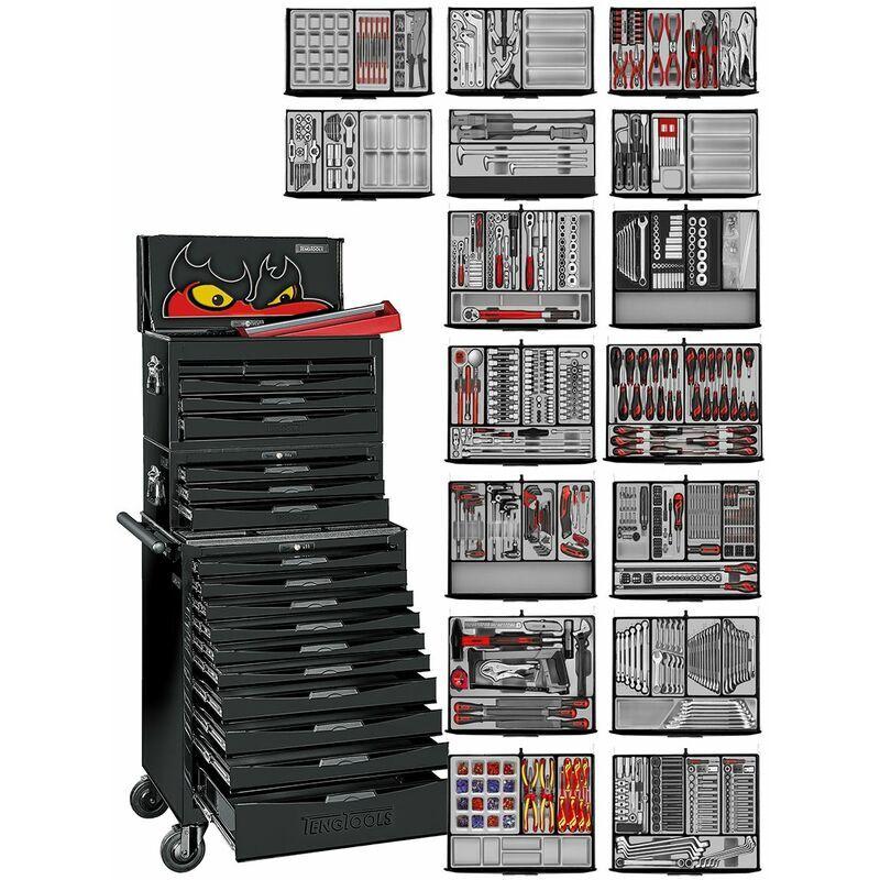 TENG TOOLS Servante d'atelier 'Black Edition' 1226 pcs Teng Tools TCMM1011NBK