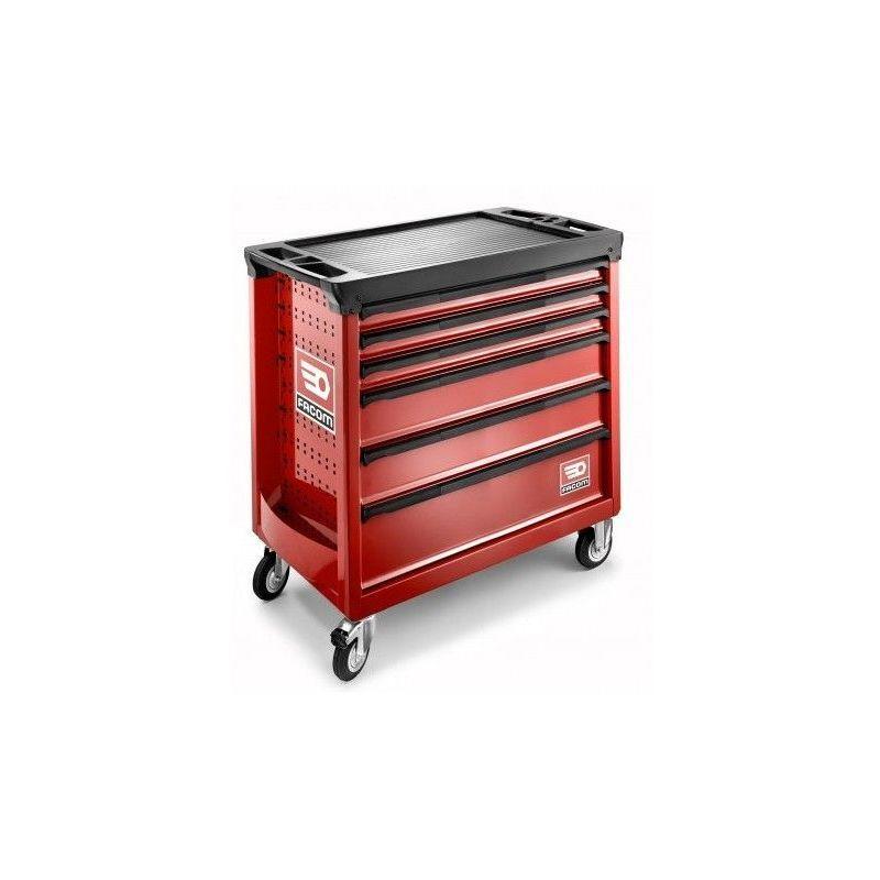 FACOM Servante d'atelier Facom ROLL rouge Extra-Large 6 tiroirs 4 modules par tiroir