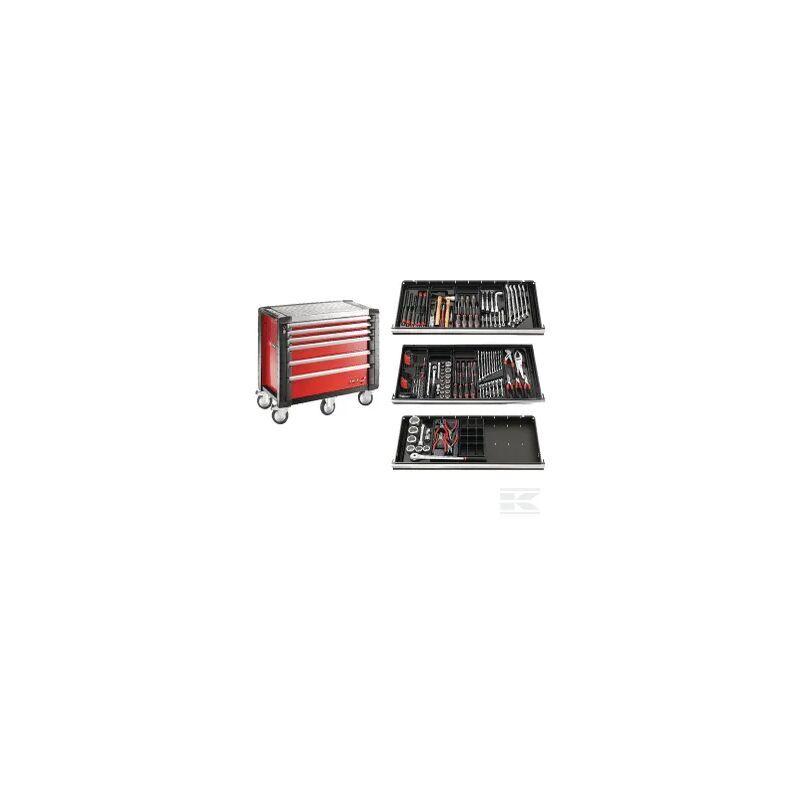 FACOM Composition Poids lourd + Servante d'atelier JETM5 Noir FACOM 6 tiroirs