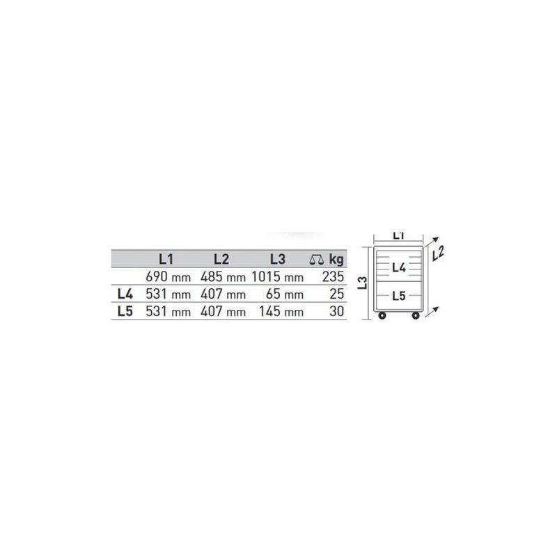 KRAFTWERK Servante d'atelier Pro-Line P407 EVA KRAFTWERK 280 pièces - 102.400.515