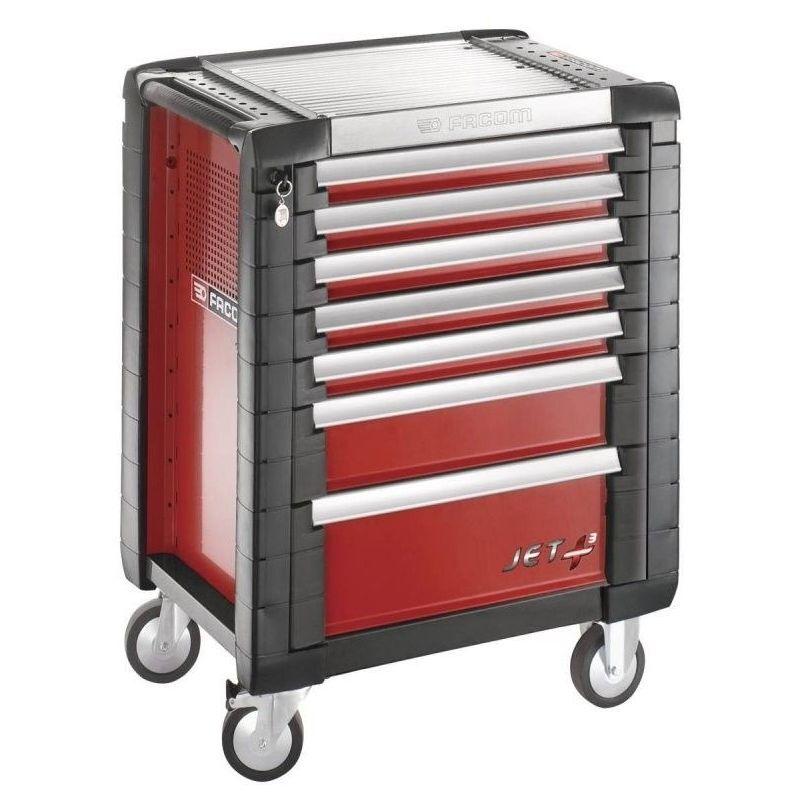 Facom - JET.7M3PB. Servante JETM3 7 tiroirs rouge 1387.06