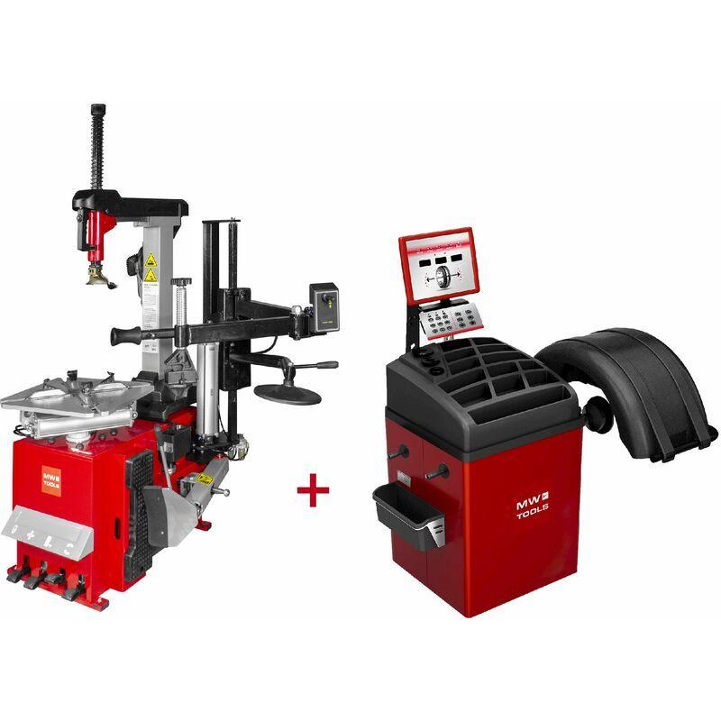 MW-TOOLS Set démonte-pneu BT300H 3x380V + équilibreuse de roues BB350 220V MW-Tools
