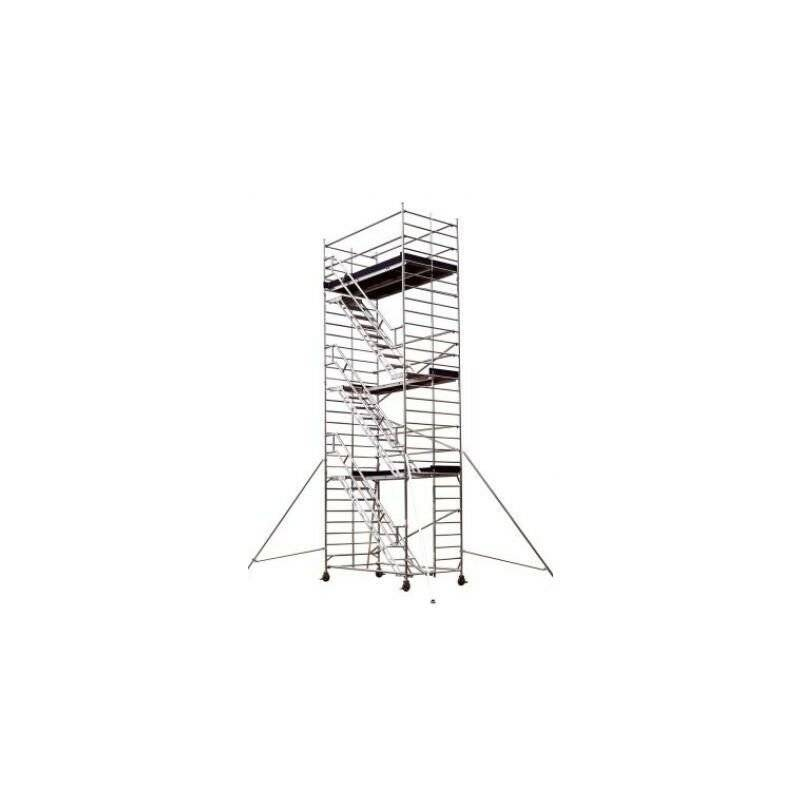 TUBESCA COMABI Tour Roulante Aluminium Pour Usage Intensif - Starlium 600 Escalier - Tubesca