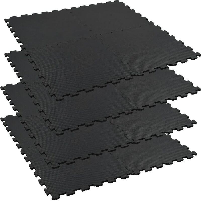 ZQYRLAR Tapis 4 pcs Caoutchouc antidérapant 60x60 cm 12 mm Hexagone