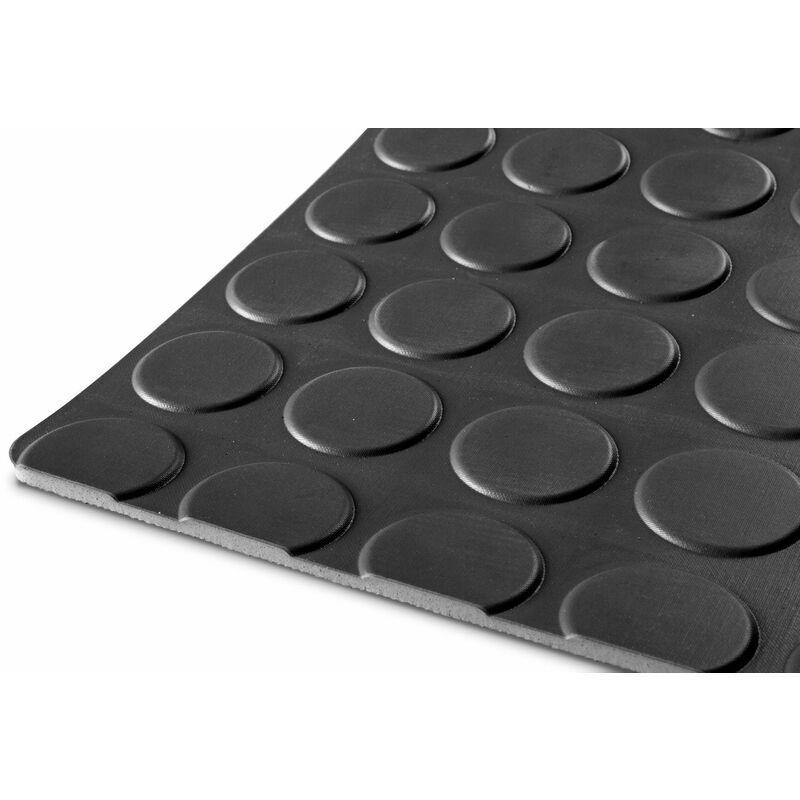 MW-TOOLS Tapis caoutchouc pastille 10m x 1,2m x 3mm noir RRNZ1200 - Mw-tools