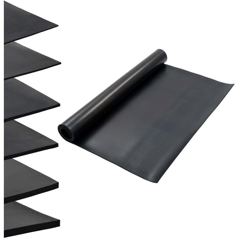 ZQYRLAR Tapis en caoutchouc antidérapant 1,2x2 m 6 mm Lisse