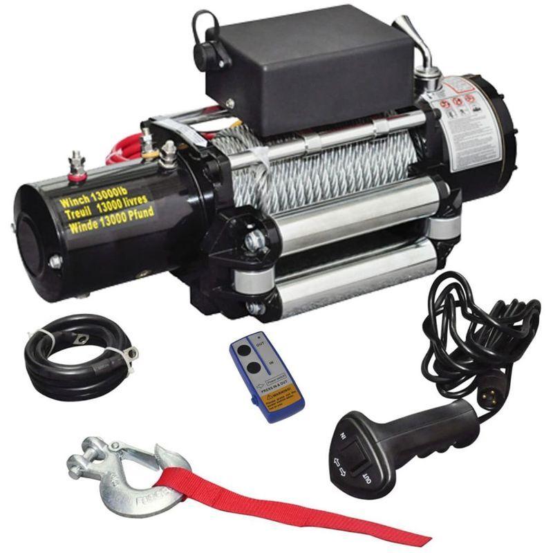 Topdeal VDTD07600_FR Treuil électrique 12 V 5909 kg