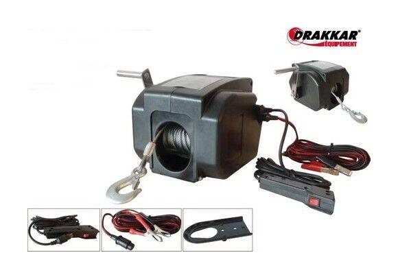 DRAKKAR EQUIPEMENT TREUIL DE TRACTION 12V 900 KG Drakkar -S15252