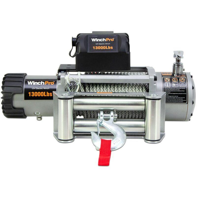 WinchPro - Treuil Électrique 12V 5900kg/13000lbs, Câble En Acier De 26m, 2