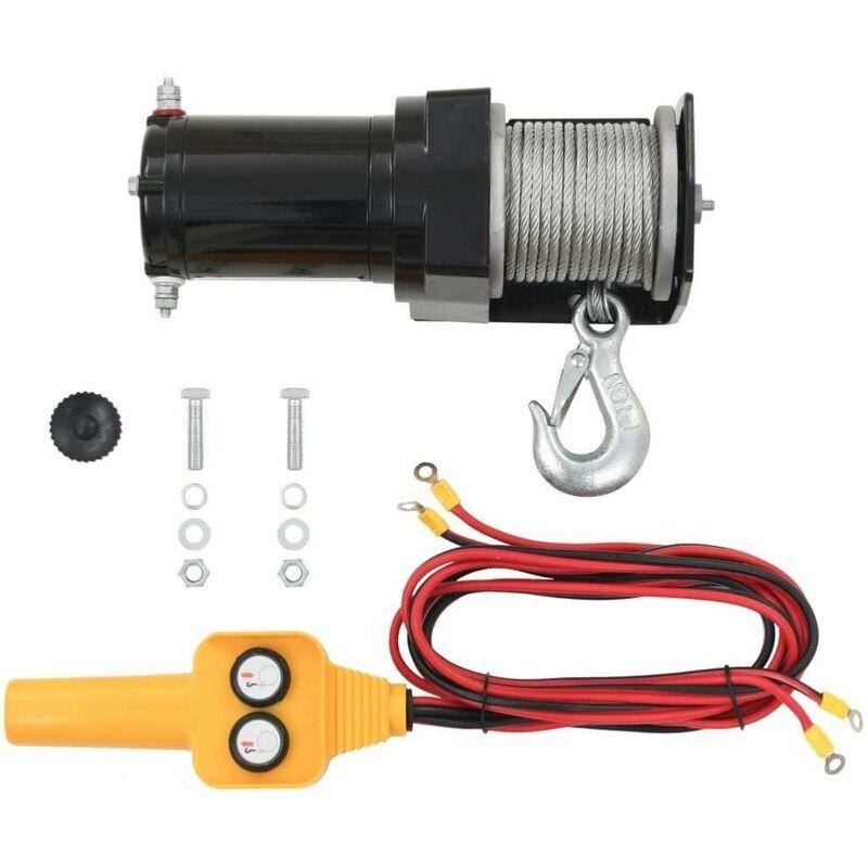 BIGB Treuil électrique 12V à cable 907 kg avec télécommande filaire