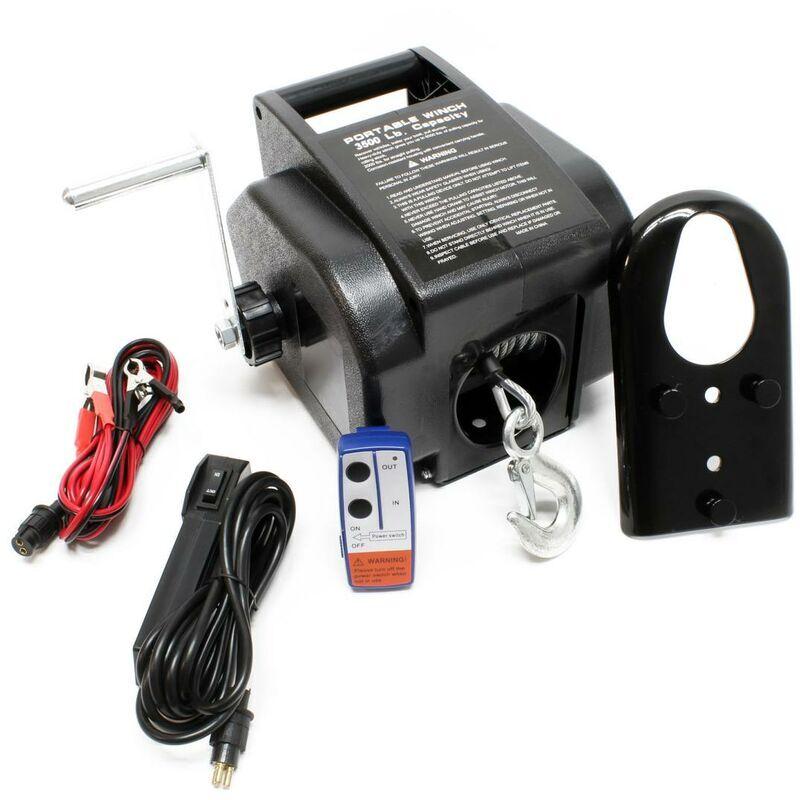 BIGB Treuil électrique à cable 12 V - 1570 kg max - Télécommande