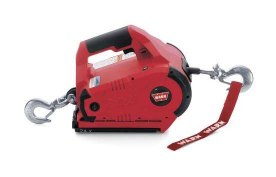WARN Treuil électrique Warn sur batterie - Pullzall 24v - charge max 450kg - câble