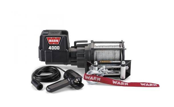 WARN Treuil electrique Warn 12v - DC 4000 - Charge max 1,8 tonnes - Cable 13m et