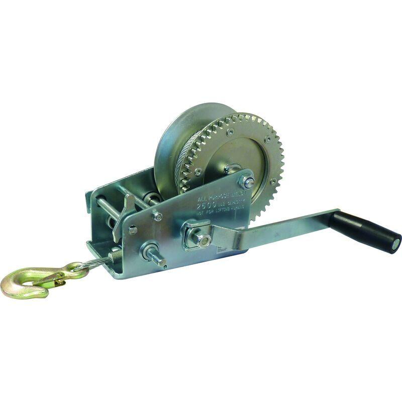 SODISE Treuil Manuel De Traction Horizontal 1100Kg +Cable - S15413