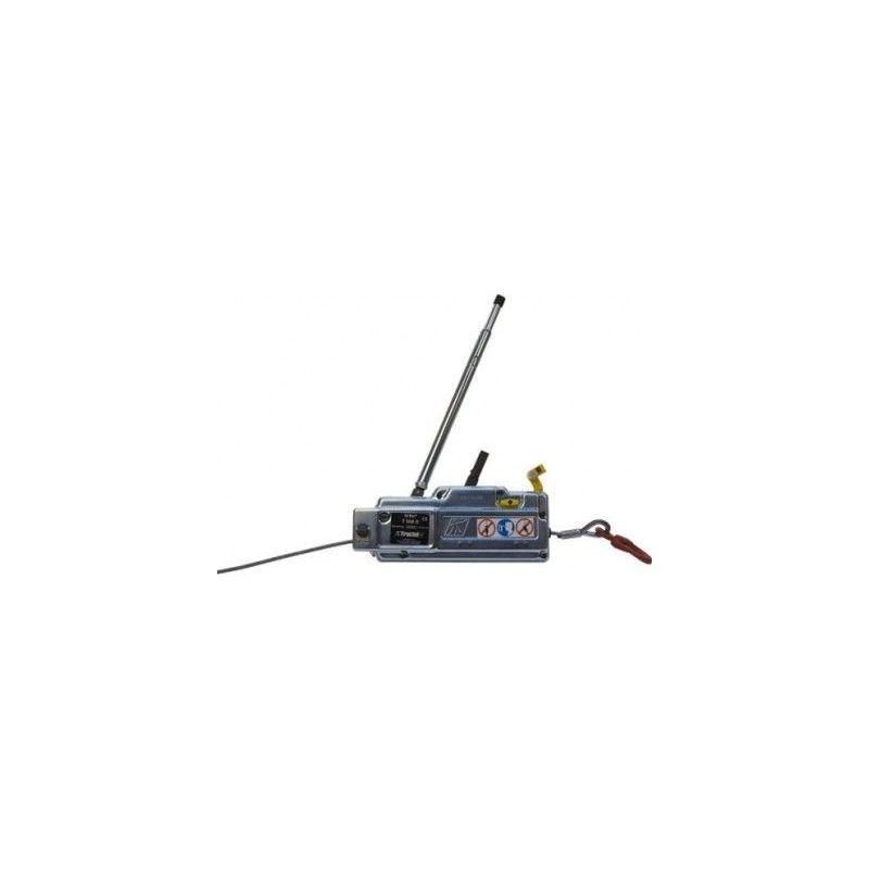 WEBSILOR Treuil manuel tirfor T500 - 800 à 3200 kg - Capacité : 800 kg - Câble 20m : oui