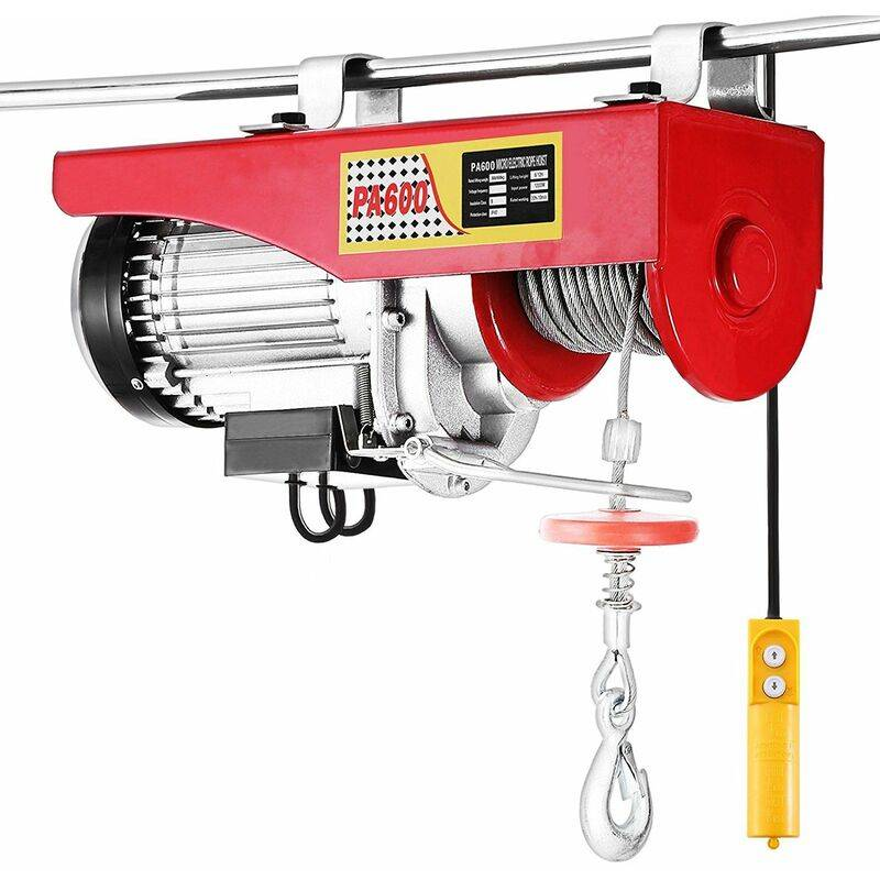 WYCTIN Treuil électrique, Palan électrique, 400/800 kg avec câble en acier