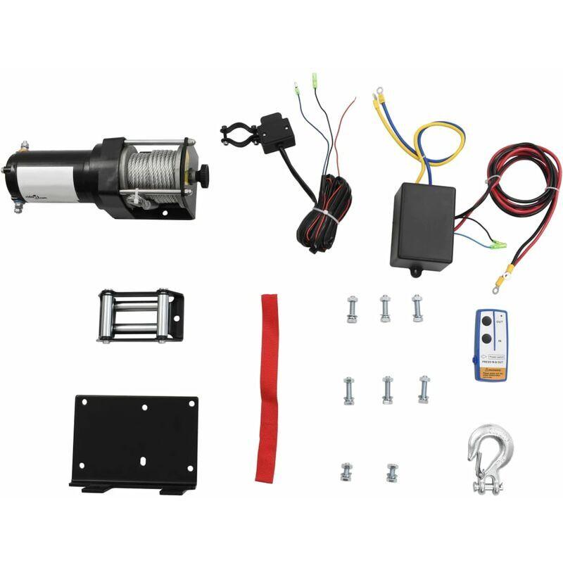 True Deal Treuil électrique 12 V 1360 kg avec télécommande sans fil