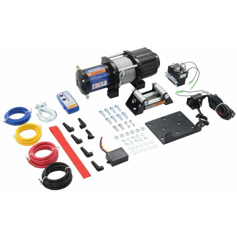 True Deal Treuil électrique 12 V 4500 lbs 2040 kg avec télécommande