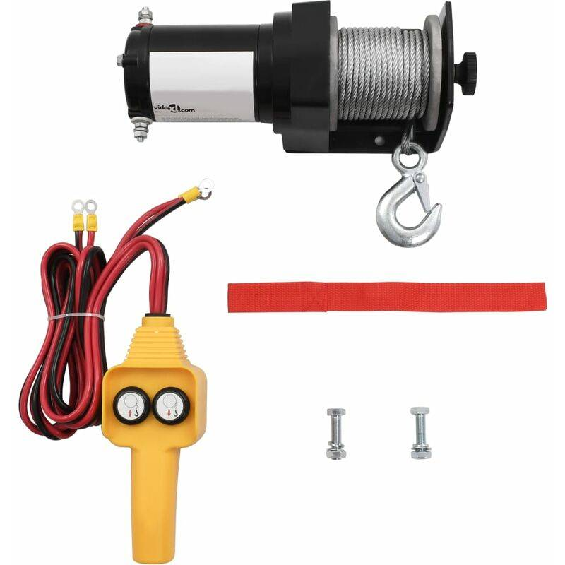 True Deal Treuil électrique 12 V 907 kg Télécommande filaire