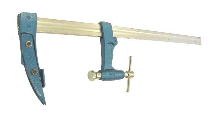 URKO Serre joint charpentier URKO - serrage 600mm - saillie 120mm - rail 35x8mm