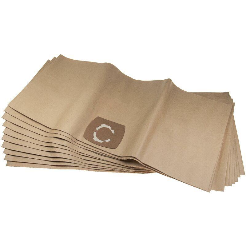 VHBW 10 sacs papier compatible avec AEG Multi 300, Multi 300 Pro aspirateur 33,1cm x