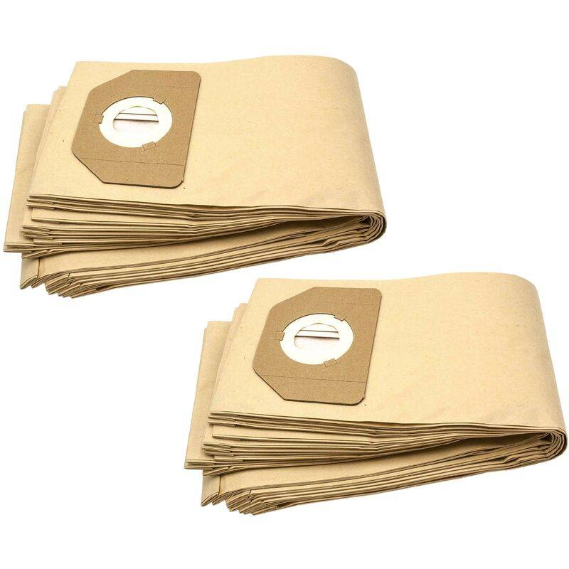 vhbw 20x sacs compatible avec Parkside (Lidl) PNTS1400/B1, PNTS1500, PNTS 30/4,