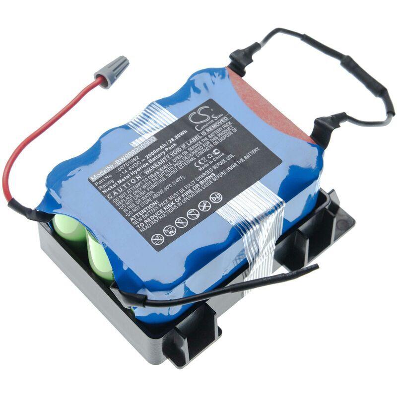 VHBW batterie compatible avec Bosch BBHMOVE1/01, BBHMOVE1/03, BBHMOVE101, BBHMOVE103