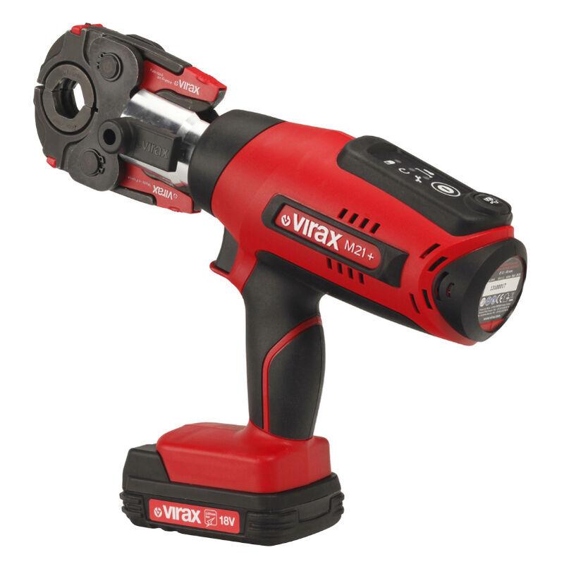 Virax - Pince à sertir électro-mécanique Viper® M21+, pince mère et quatre