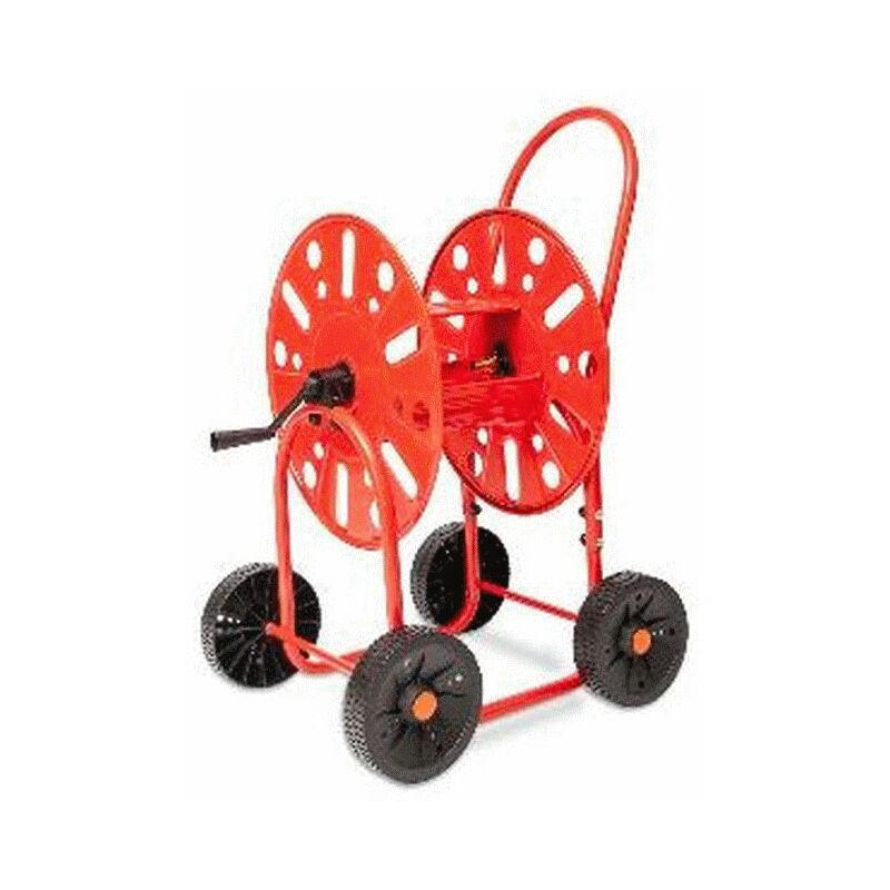 Lem Select - Dévidoirs acier 4 roues pour tuyau d'arrosage 19mm / 90M max.