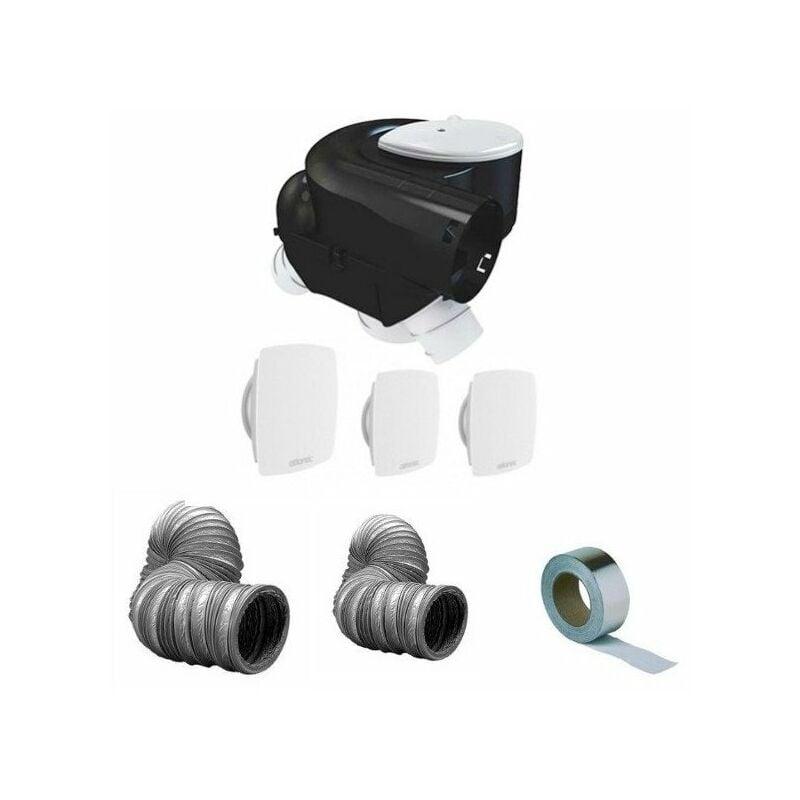 ATLANTIC Kit complet vmc simple flux 3 bouches autocosy plus gaines et bande alu