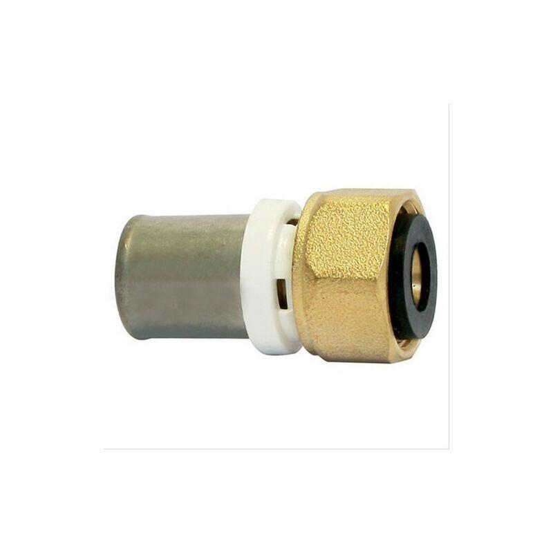 Somatherm - Raccord droit Multicouche à sertir (TH) - F20/27 - Diam20