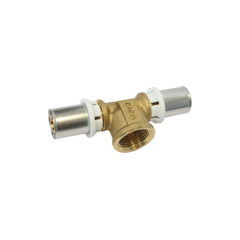 Somatherm - Té Multicouche à sertir (TH) - F15/21 - Diam20