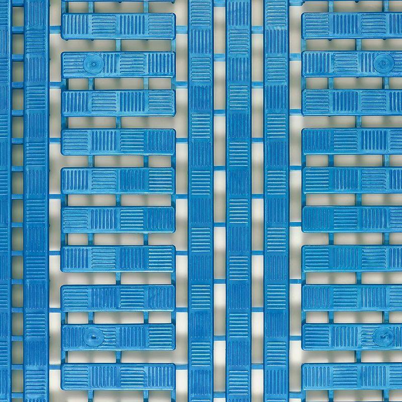 CERTEO Caillebotis en polyéthylène - L x l 1200 x 600 mm, lot de 5 - bleu - Coloris: