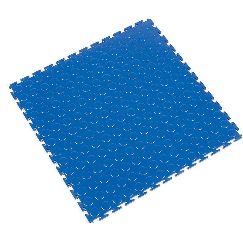 CERTEO Caillebotis en PVC, lot de 8 - à surface structurée en pastilles - bleu