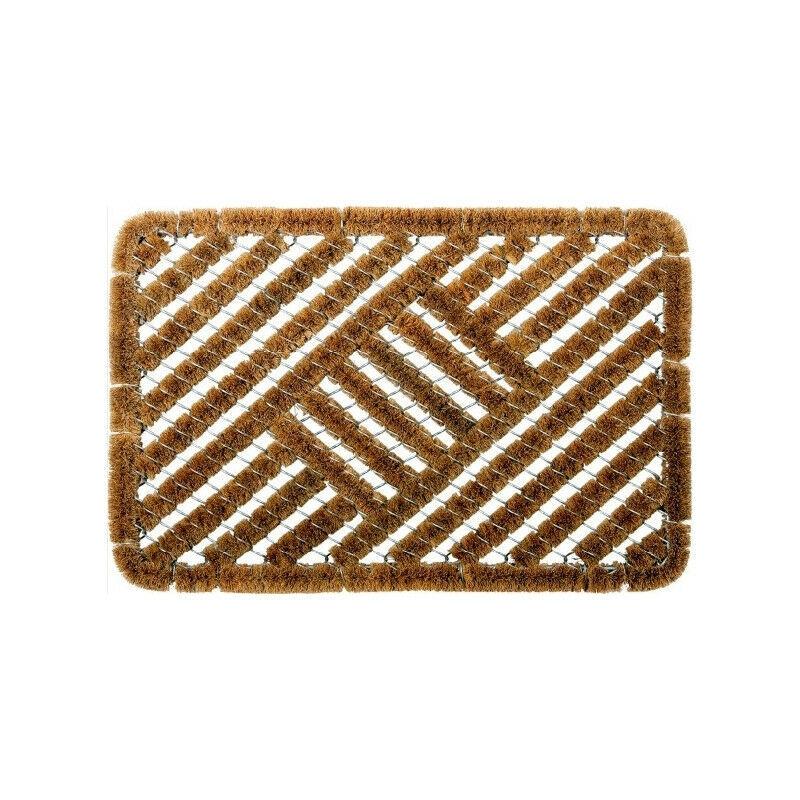 ID MAT Tapis grattant coco naturel + métal 40x60 cm