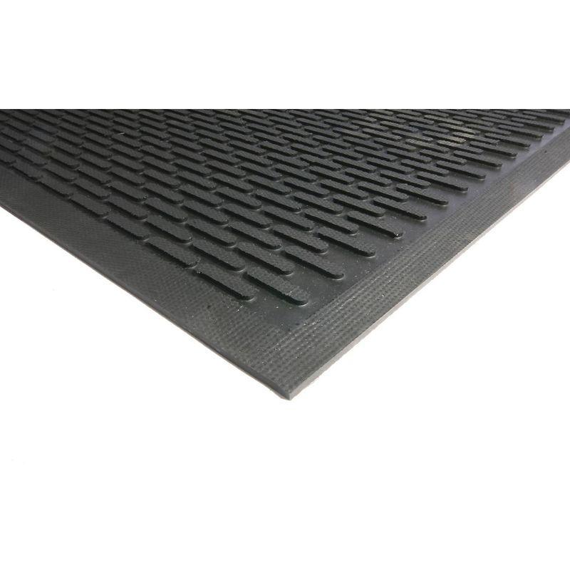 Certeo - Tapis de propreté - caoutchouc noir - L x l 1750 x 1150 mm - Coloris: