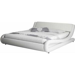 DESIGNAMEUBLEMENT Lit double Alessia – blanc 180x200cm - Publicité