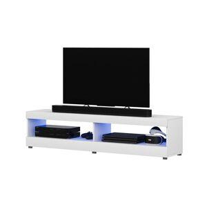 Selsey VIANSOLA - Meuble tv / Meuble de salon (blanc mat / blanc brillant, 100 - Publicité