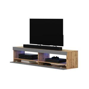 Selsey VIANSOLA - Meuble tv / Meuble de salon (chêne lancaster / gris brillant, - Publicité