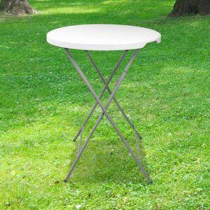 SKYLANTERN Table Haute Mange Debout Pliante Grand Plateau 80 cm - Hauteur 1,10M - Table - Publicité