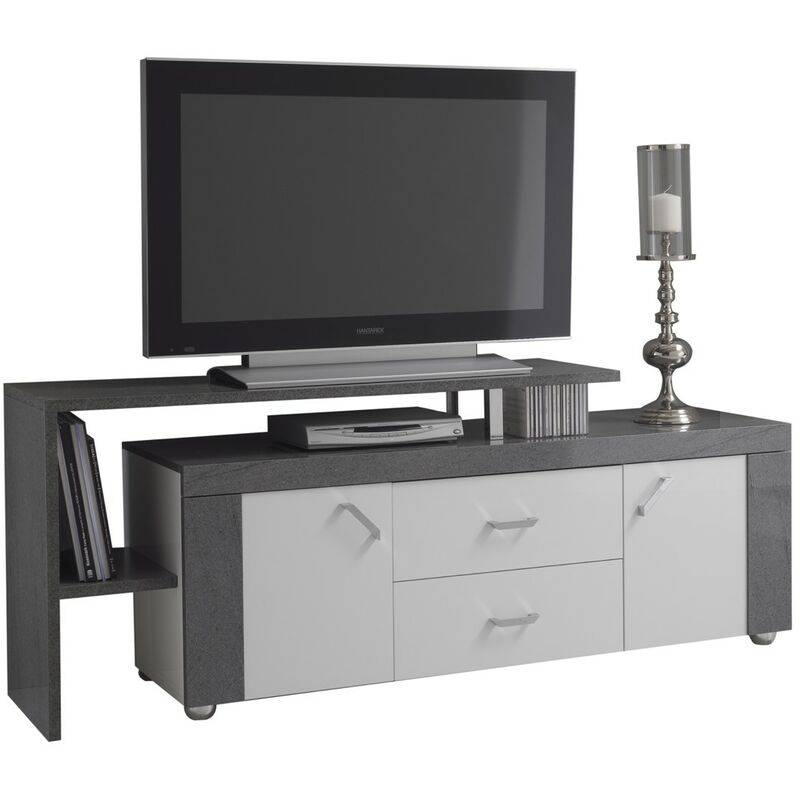 Altobuy - LUNA - Meuble TV avec plateau